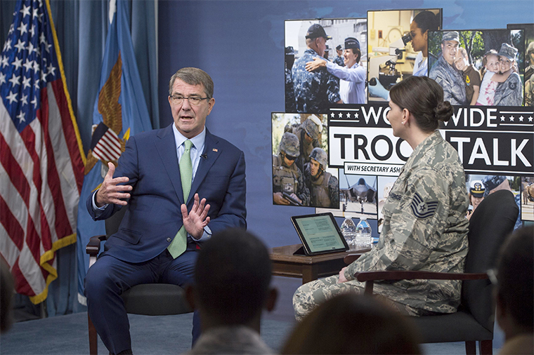 Ash Carter answers Troop Talk questions.